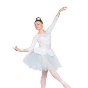 H550  Near Light Sequin Swirl Christmas Ballet Tutu