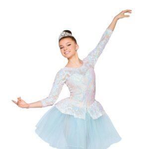 H550  Near Light Sequin Swirl Christmas Ballet Tutu Ivory