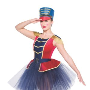H558 1776 Soldier Christmas Inspired Performance Character Ballet Tutu Front
