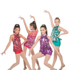 H561  A Rockin Time Paillette Sequin Christmas Inspired Performance Jazz Dance Costume