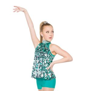 H561  A Rockin Time Paillette Sequin Christmas Inspired Performance Jazz Dance Costume Jade