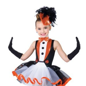 H566  Penguin Dance Sequin Christmas Inspired Performance Character Dance Costume Front