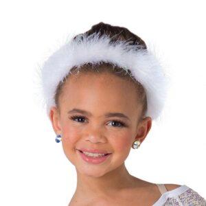 H569 A  Maribou Headband Christmas Inspired Dance Costume Accessory