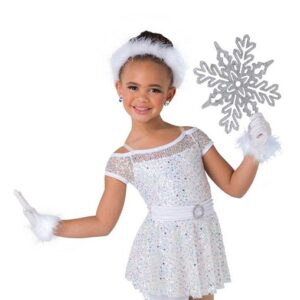 H569  I Want You Back Mixed Sequin Christmas Inspired Performance Dance Costume