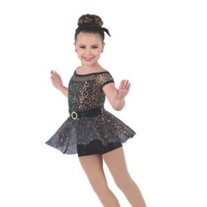 H569  I Want You Back Mixed Sequin Christmas Inspired Performance Dance Costume Balck
