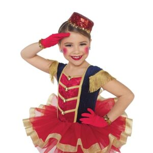 H570  On The March Soldier Christmas Inspired Performance Character Ballet Tutu Front