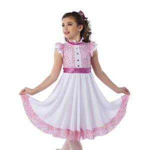 H576  Marie Sequin Floral Lace Christmas Inspired Performance Character Dance Dress
