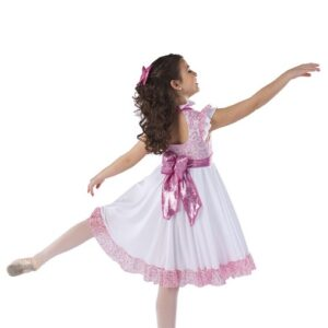 H576  Marie Sequin Floral Lace Christmas Inspired Performance Character Dance Dress Back