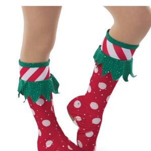 H577B  Buddy Boots Sequin Polka Elf Inspired Performance Character Dance Costume Accessory