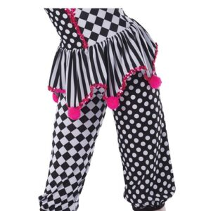 H578P  Under The Big Top Christmas Clown Inspired Performance Character Capri Pants