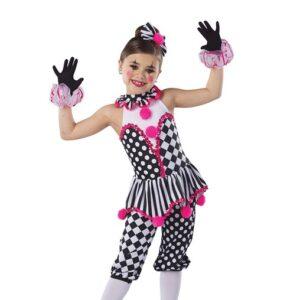 H578P  Under The Big Top Christmas Clown Inspired Performance Character Capri Pantsw Pants