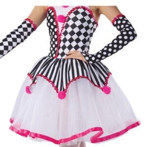 H578T  Under The Big Top Christmas Clown Inspired Performance Ballet Tutu Skirt