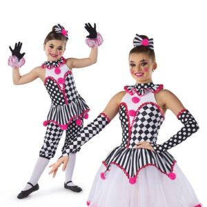 H578  Under The Big Top Christmas Clown Inspired Performance Character Dance Leotard