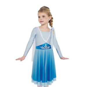 H579  Into The Unkown Frozen Elsa Inspired Performance Character Dance Costume Front