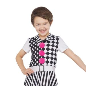 H582  Under The Big Top Clown Character Guys Christmas Inspired Dance Costume Front