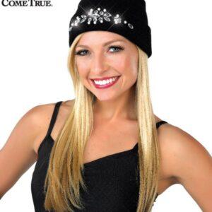 H59  A Rhinestone Beanie Hat Dance Costume Accessory