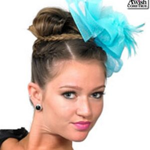 H71  Bow Fascinator Dance Costume Accessory Turquoise
