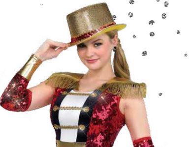 H76  Foil Top Hat Dance Costume Accessory