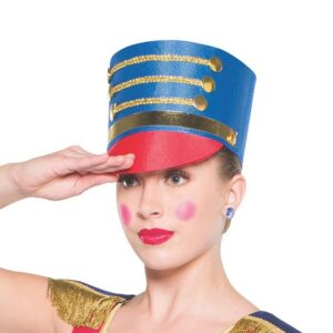 H78  Soldier Hat Christmas Character Dance Costume Accessory