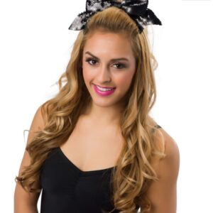 J B34  Sequin Bow With Tails Barrette Dance Costume Accessory