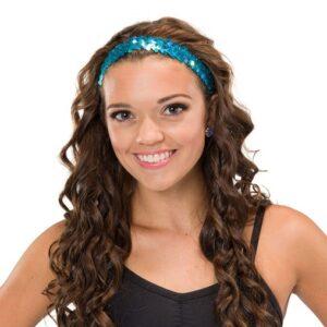J B40  Sequin Headband Dance Costume Accessory Turqouise