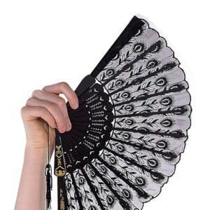 Lace Fan Dance Costume Accessory