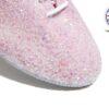 Pearl Pink Glitter Jazz Shoe Detail