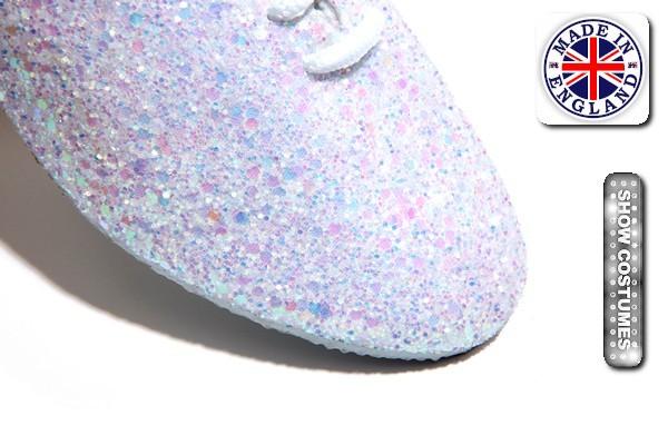 Pearl White Glitter Jazz Shoe Detail