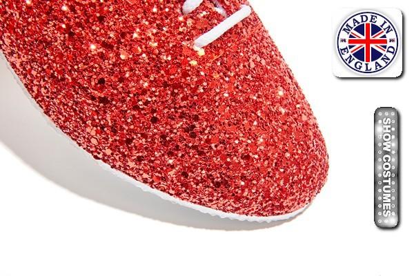 Red Glitter Jazz Shoe Detail