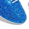 Royal Blue Glitter Jazz Shoe Detail