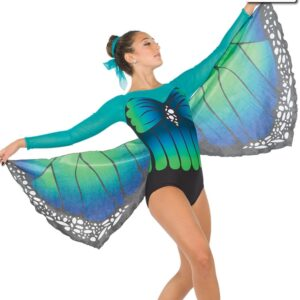 S250  Metmorphosis Butterfly Competition Dance Costume Jade