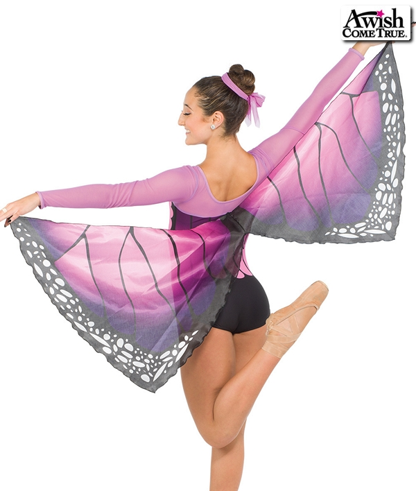 S250  Metmorphosis Butterfly Competition Dance Costume Lavender Back