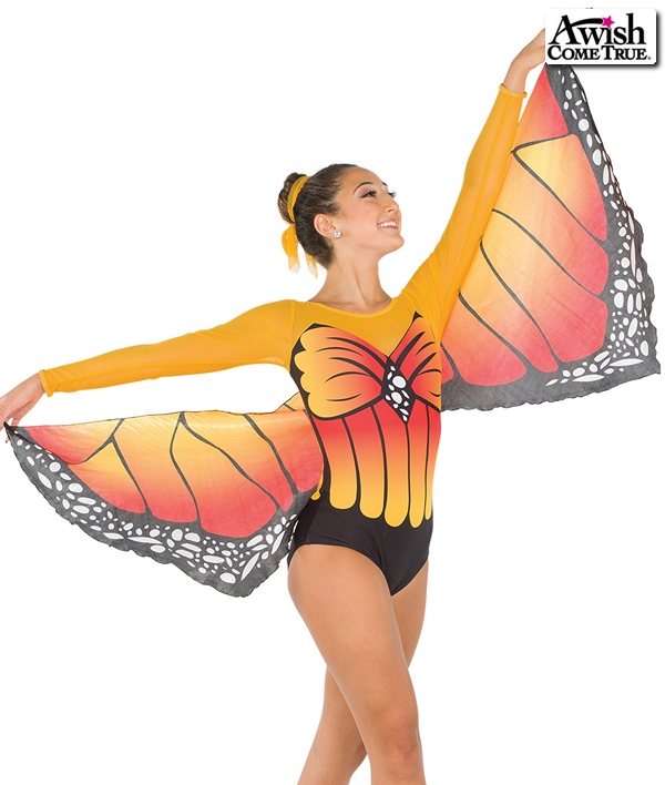 S250  Metmorphosis Butterfly Competition Dance Costume Yellow
