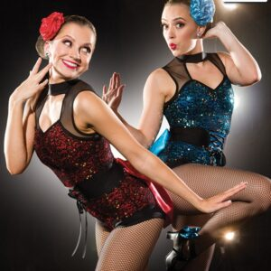 S252  Something More Sequin Competition Dance Leotard Feature
