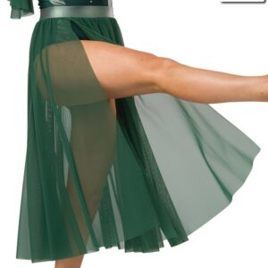 S269 SK  Hold On Contemporary Competition Performance Dance Skirt Hunter