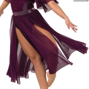S269 SK  Hold On Contemporary Competition Performance Dance Skirt Merlot