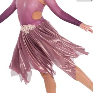 S272 SK  Fear Of The Water Lyrical Competition Performance Dance Skirt Mauve