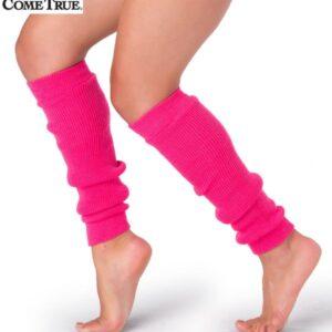 S56 93 Neon Leg Warners Dance Costume Accessory Hot Pink