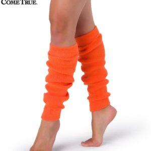 S56  A Neon Leg Warners Dance Costume Accessory Orange