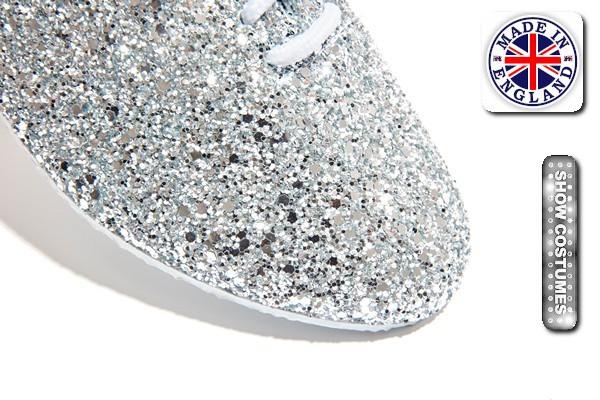 Silver Glitter Jazz Shoe Detail