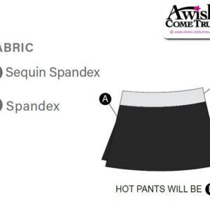 Sequin Spandex - Slim Skirt 2