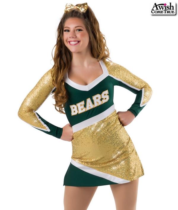 T1752   Team Cheer Costume Gold