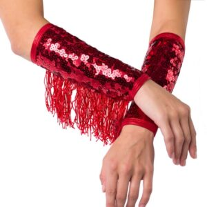 T1831M Fringe Mitts Team Cheer Performance Accessory A