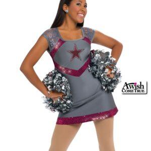 T1903  Confident Cheer Dance Uniform Grey