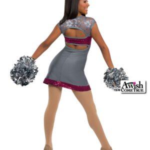 T1903  Confident Cheer Dance Uniform Grey Back