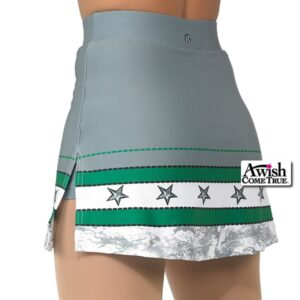 T1916  Liberty Cheer Dance Skirt Silhouette Back