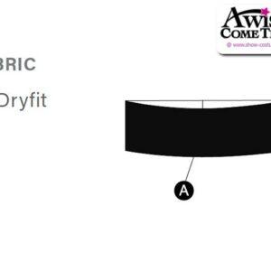 T1935 Customisable Cheer Dance Dry Fit Headband