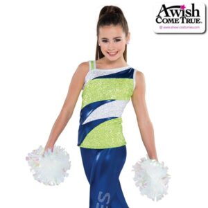 T1986  Conquer Cheer Pom Dance Sequin Tank Top