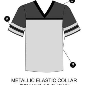 T1999  Football Shirt Jersey Knit Cheer Team Top Silhouette