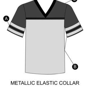 T2001  Football Shirt Sequin Spandex Mesh Cheer Team Top Silhouette